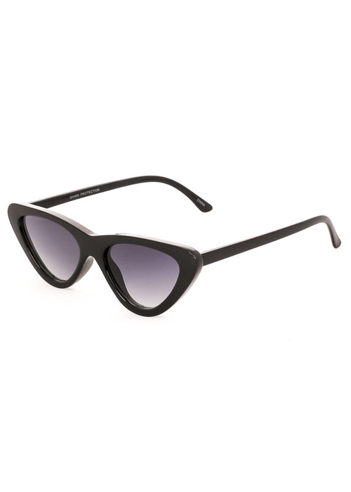 Sorrento Vintage Cat Eye Sunglasses Black