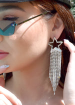 Crystal Star Fringe Earrings