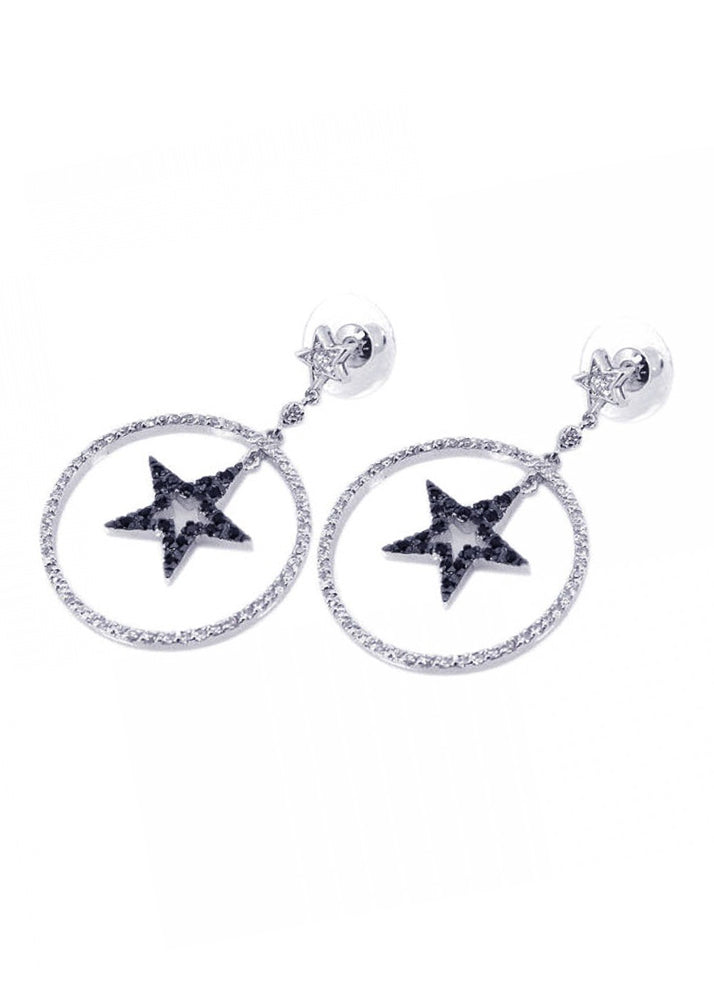 Moon & Stars Crystal Drop Earrings