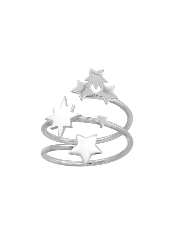 All The Stars Sterling Silver Wrap Ring