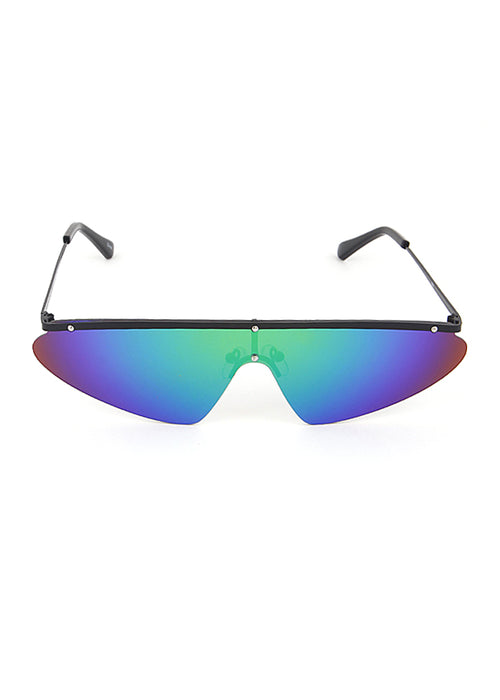FALCON Frame - Black Frame / Blue Mirrored Lens