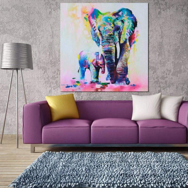 Elephant Canvas Paintings