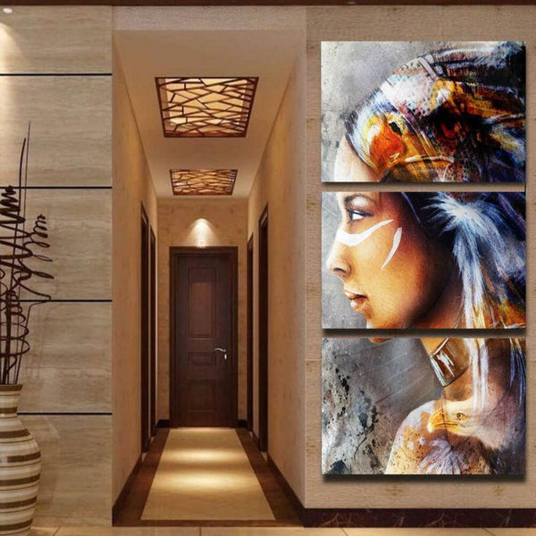 Native American Indian Canvas Paintings