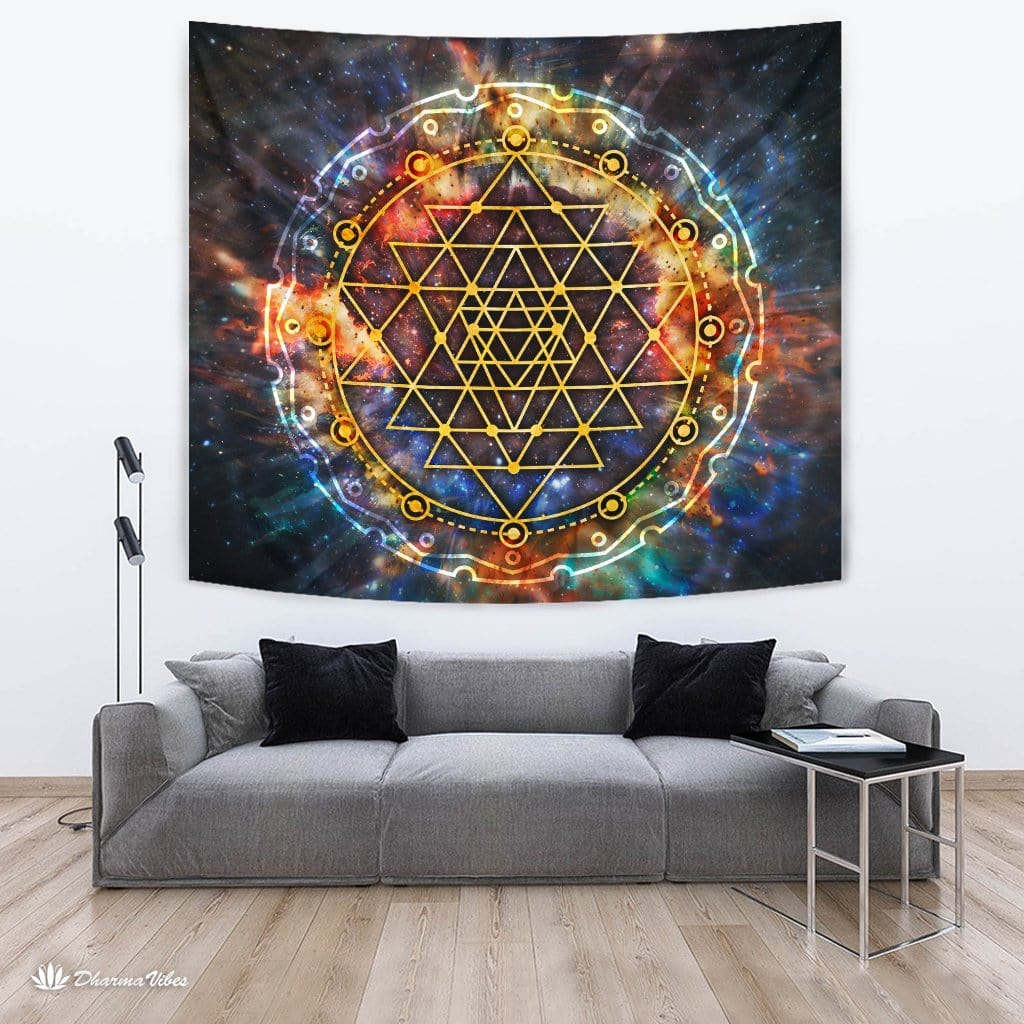 Sri Yantra Galaxy by McAshe Collection