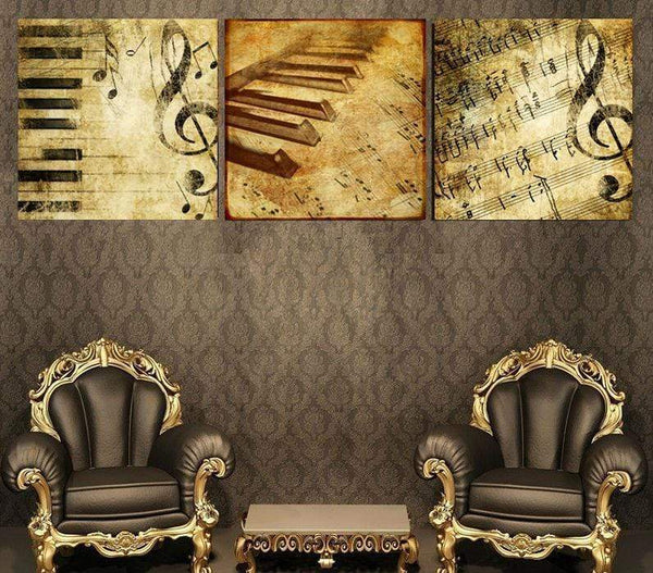 Piano Canvas Paintings