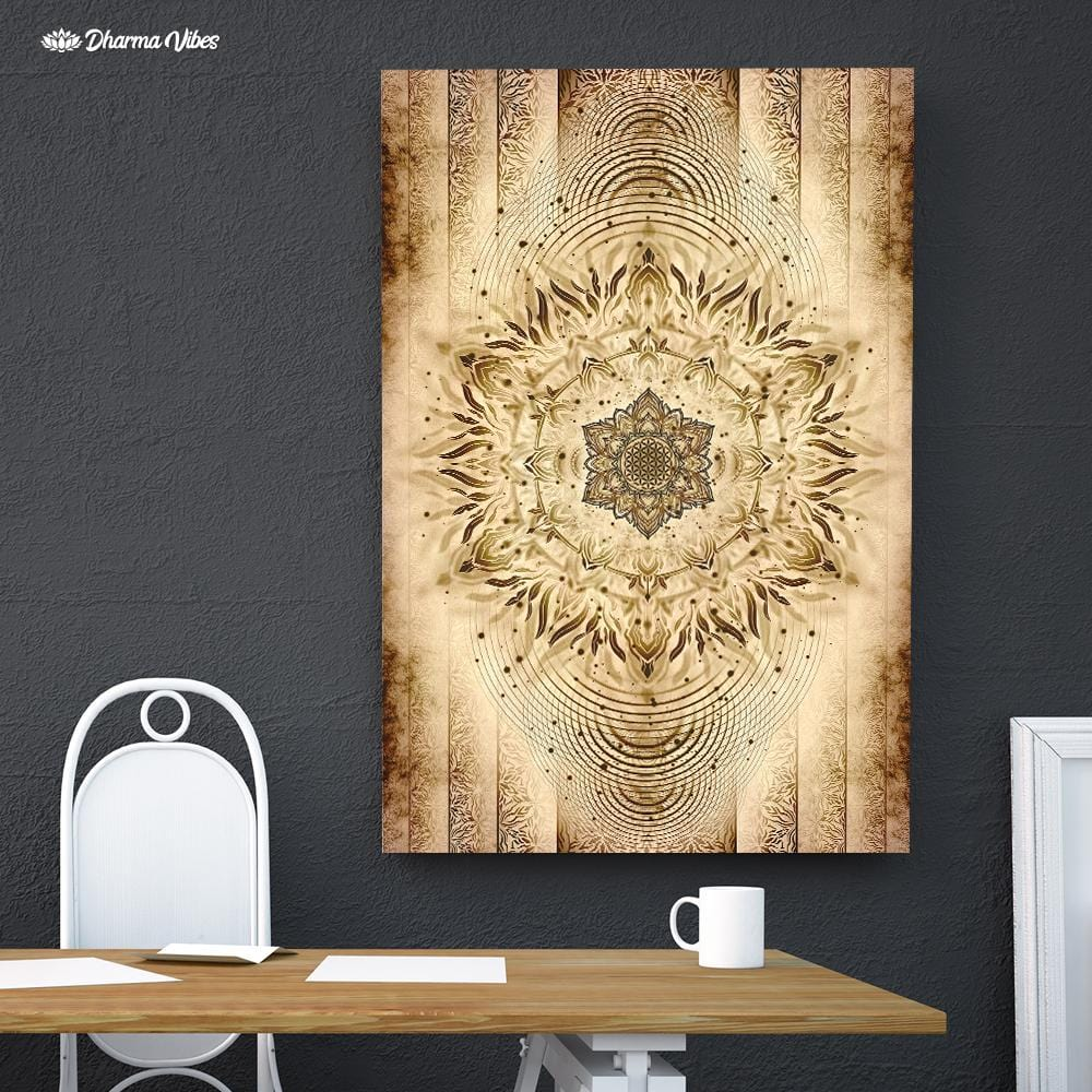 Aligned Flower Ancient by YantrArt Design 1-Piece Canvas