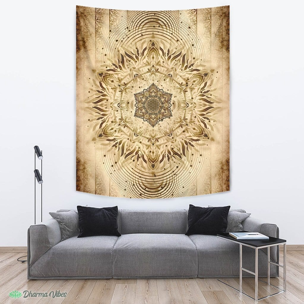 Aligned Flower Ancient by YantrArt Design Tapestry