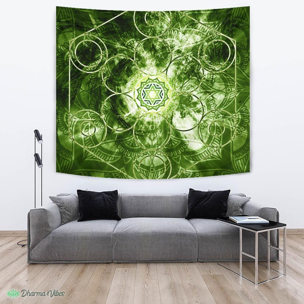 Geometric Chakra Anahata by McAshe Tapestry