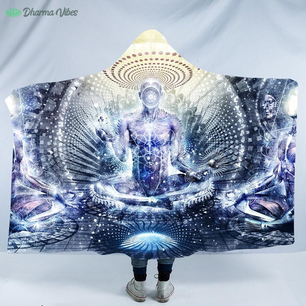 Awake Could Be So Beautiful by Cameron Gray Hooded Blanket