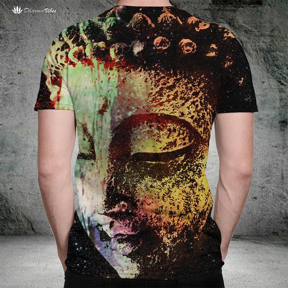 Buddha Galaxy by McAshe Yoga T-Shirt