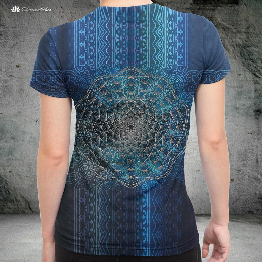 Blue Geometry by McAshe T-Shirt