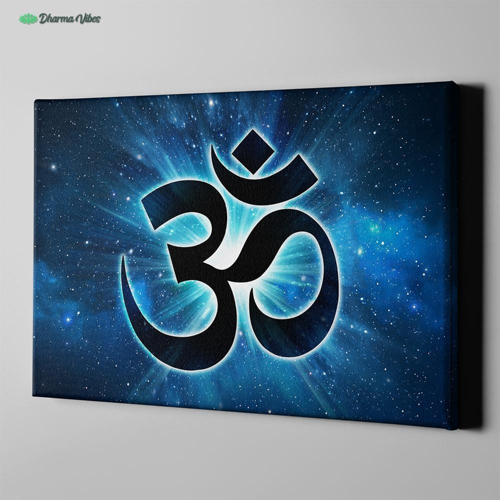 Blue Om by McAshe 1-Piece Canvas