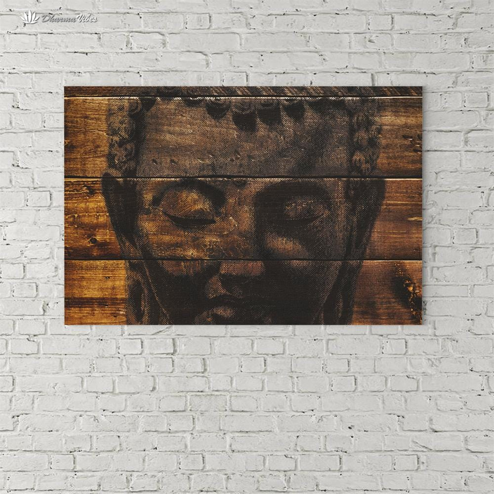 Buddha Ingrained 1 by BuddhArt 1-Piece Canvas Art