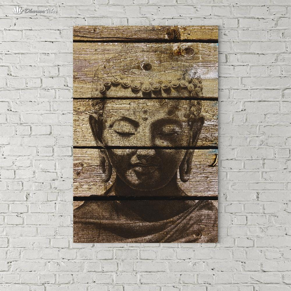 Buddha Ingrained 4 by BuddhArt 1-Piece Canvas Art