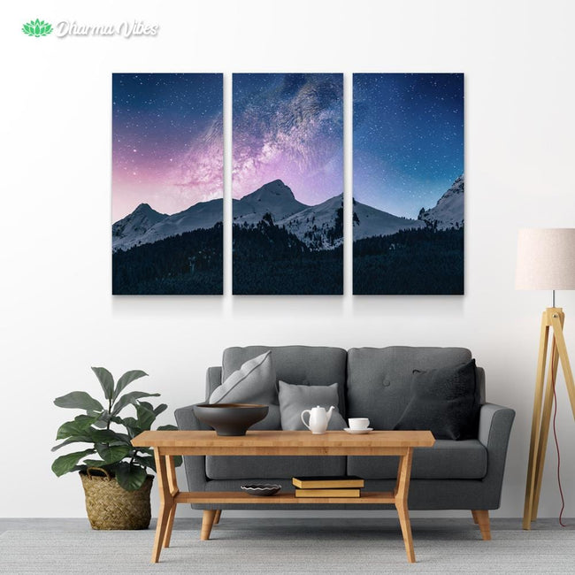 Bear Mountain Galaxy 3-Piece Canvas