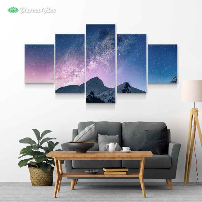 Bear Mountain Galaxy 5-Piece Canvas