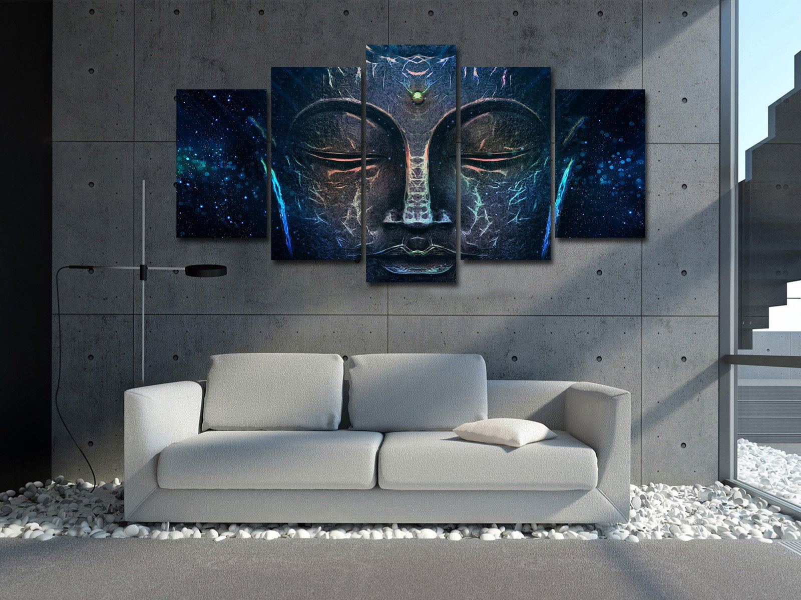 Buddha Wisdom by McAshe 5-Piece Canvas Art