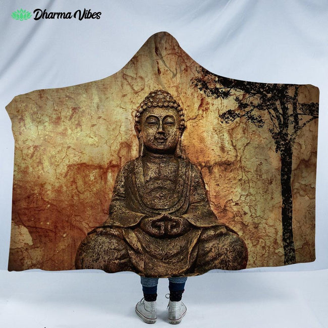 Buddha 16 by Mcashe Hooded Blanket