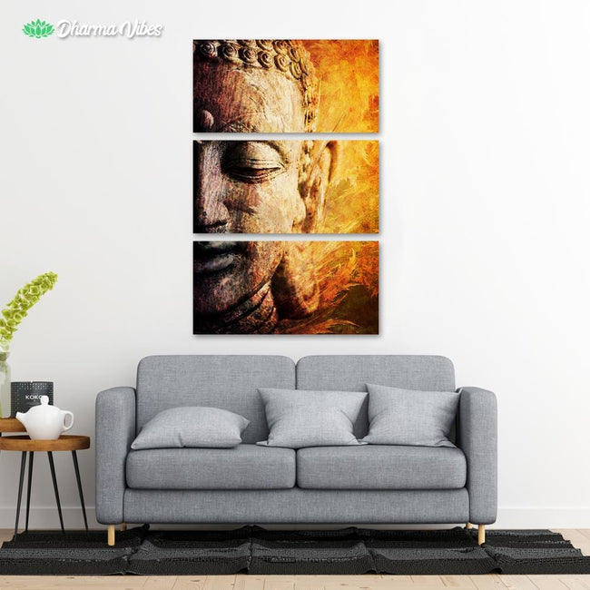Buddha Awakened by McAshe 3-Piece Canvas
