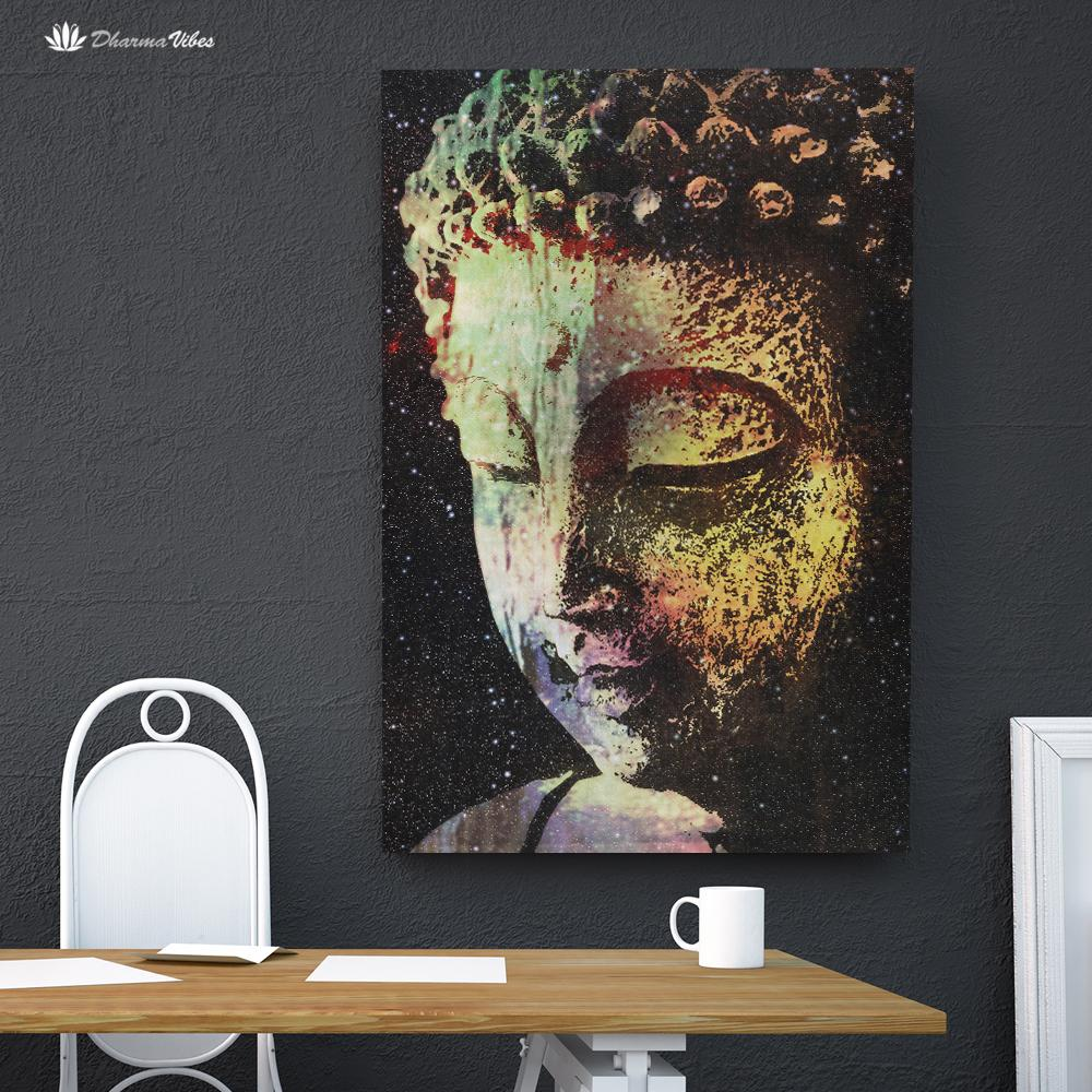 Buddha Galaxy by McAshe 1-Piece Canvas Art