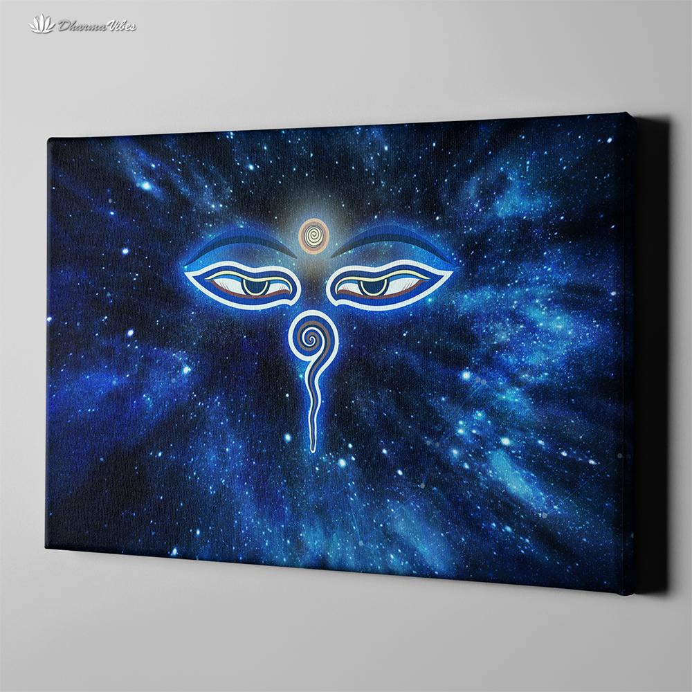 Buddha Mystic Eyes by McAshe 1-Piece Canvas Art