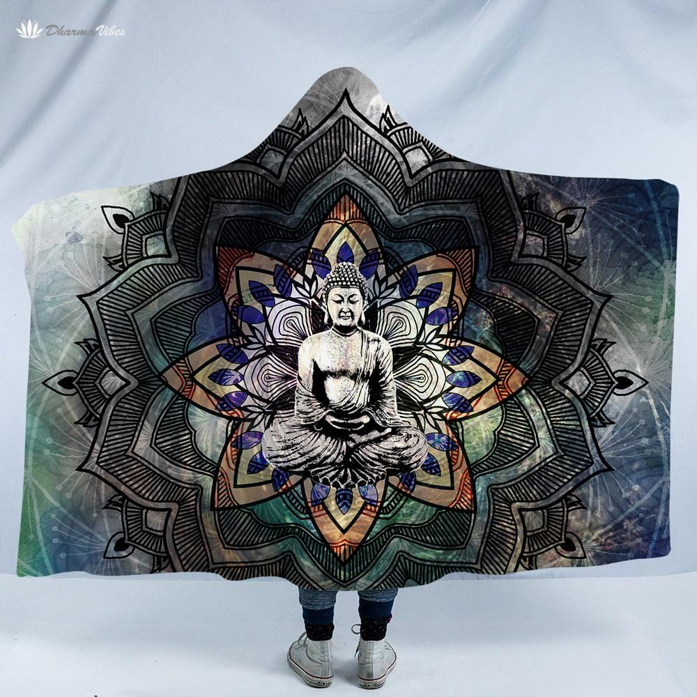 Buddha Unity by McAshe Hooded Blanket