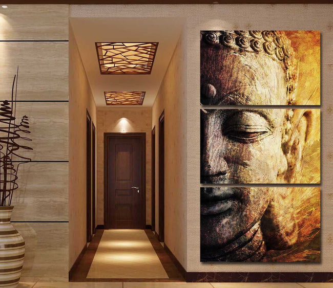 Buddha Awakened by McAshe 3-Piece Canvas Art