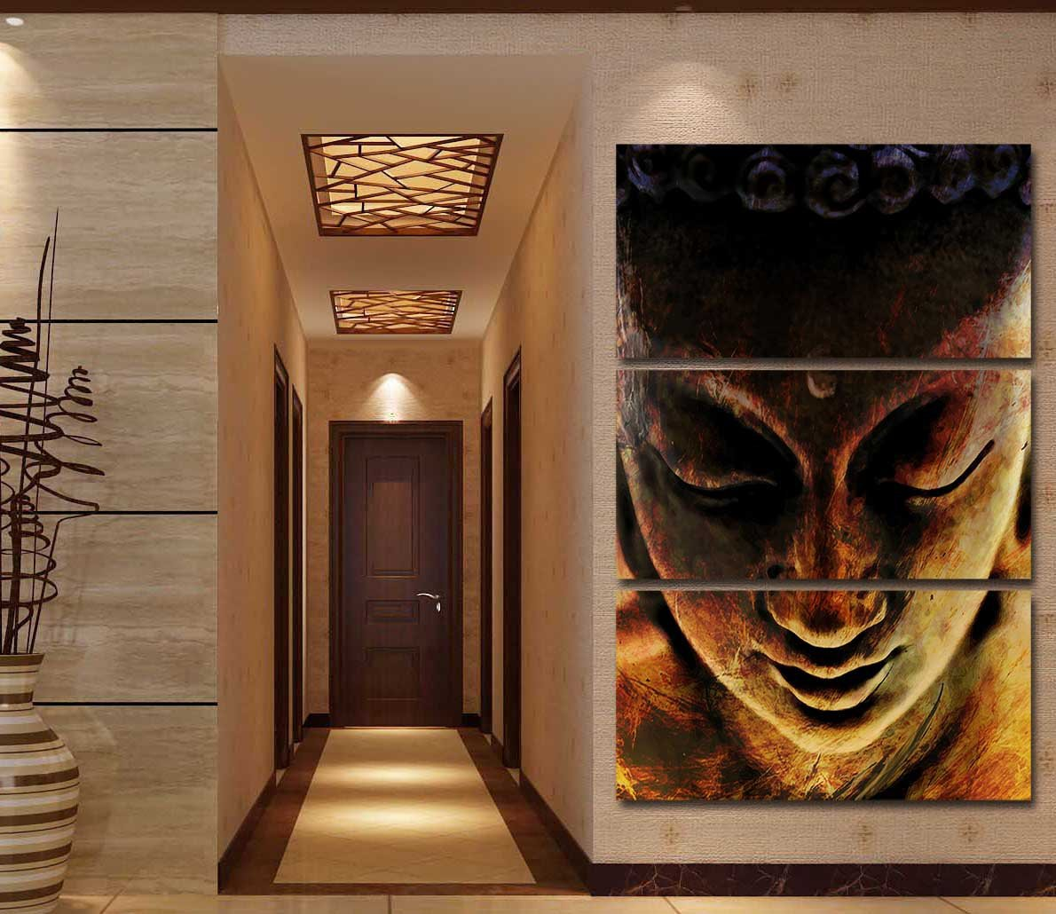 Buddha Nirvana by McAshe 3-Piece Canvas Art