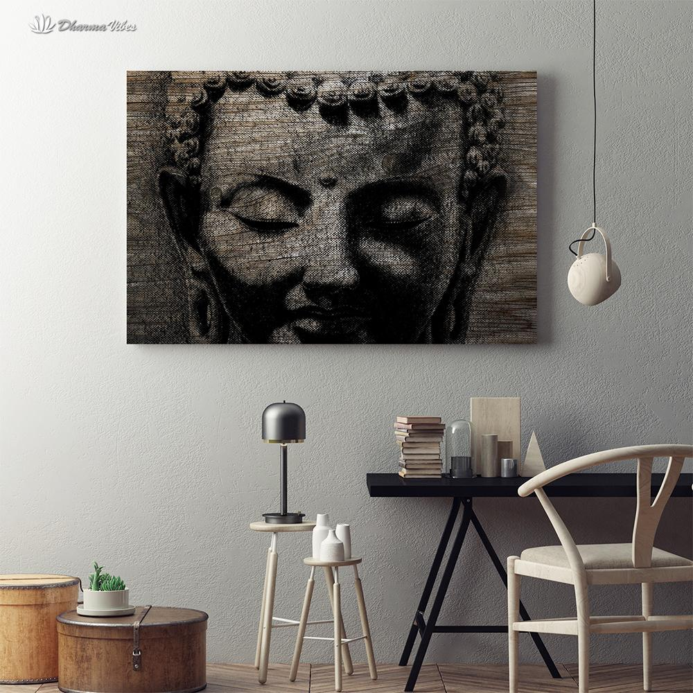 Buddha Ingrained 2 by Buddha Art (Martin Gray) 1-Piece Canvas Art