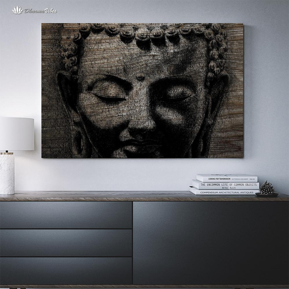 Buddha Ingrained 2 by BuddhArt 1-Piece Canvas Art