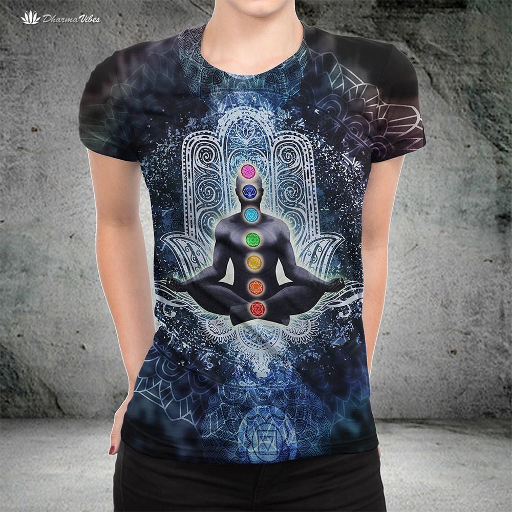 Enlightened Chakra by McAshe T-Shirt