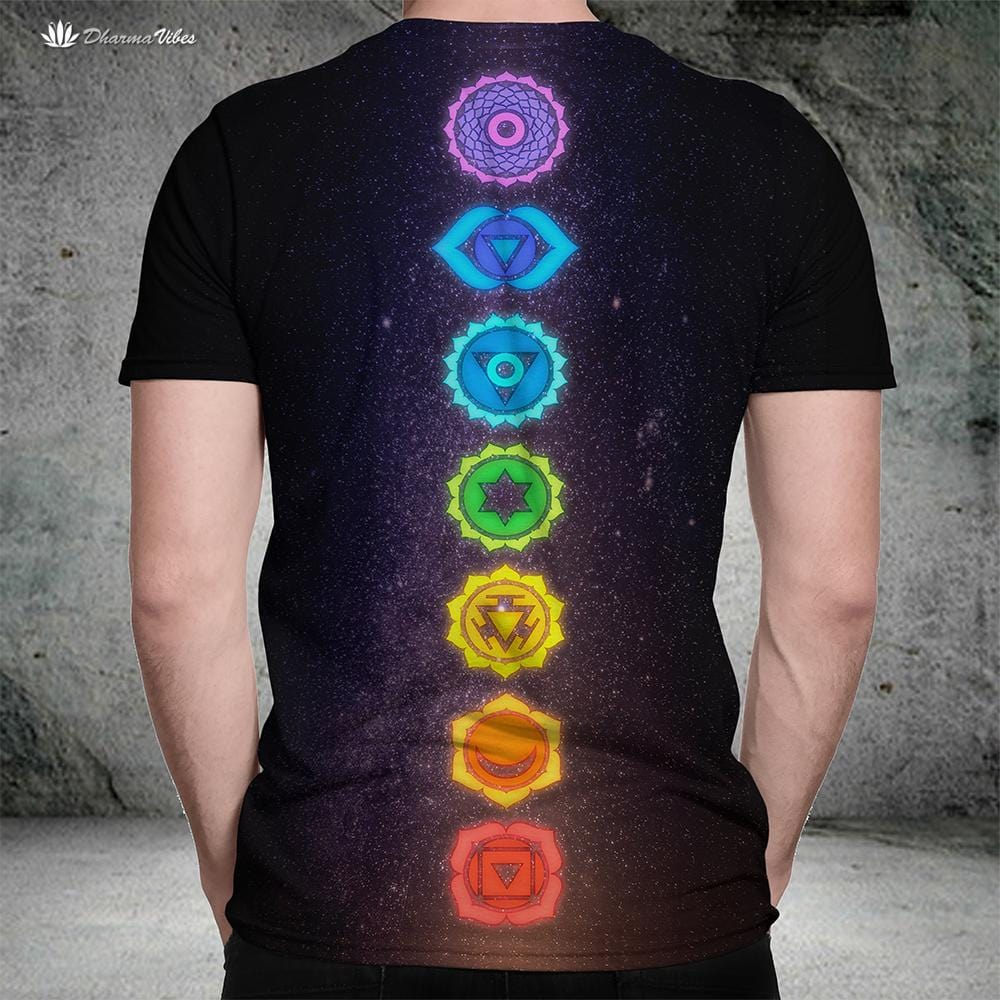 7 Chakras by McAshe Yoga T-Shirt