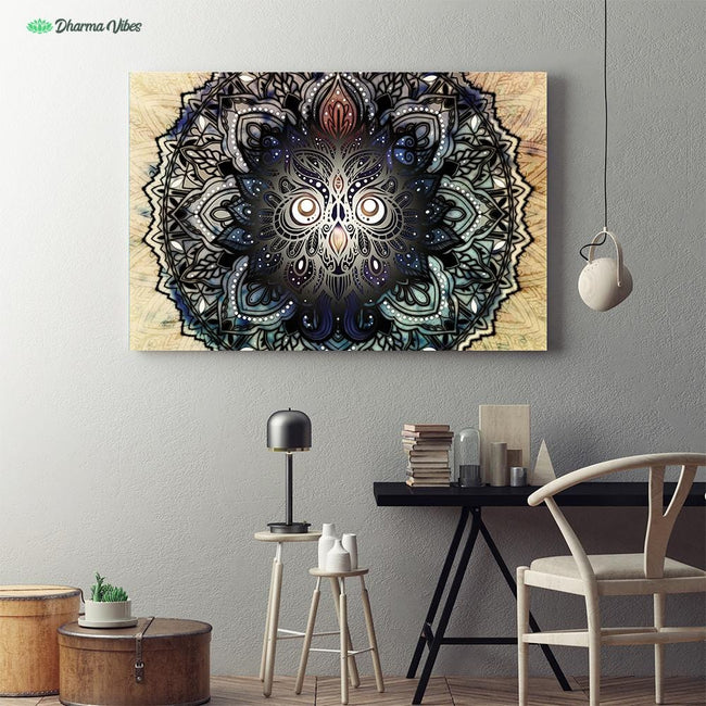 Mandala Nocturnal Owl by McAshe 1-Piece Canvas