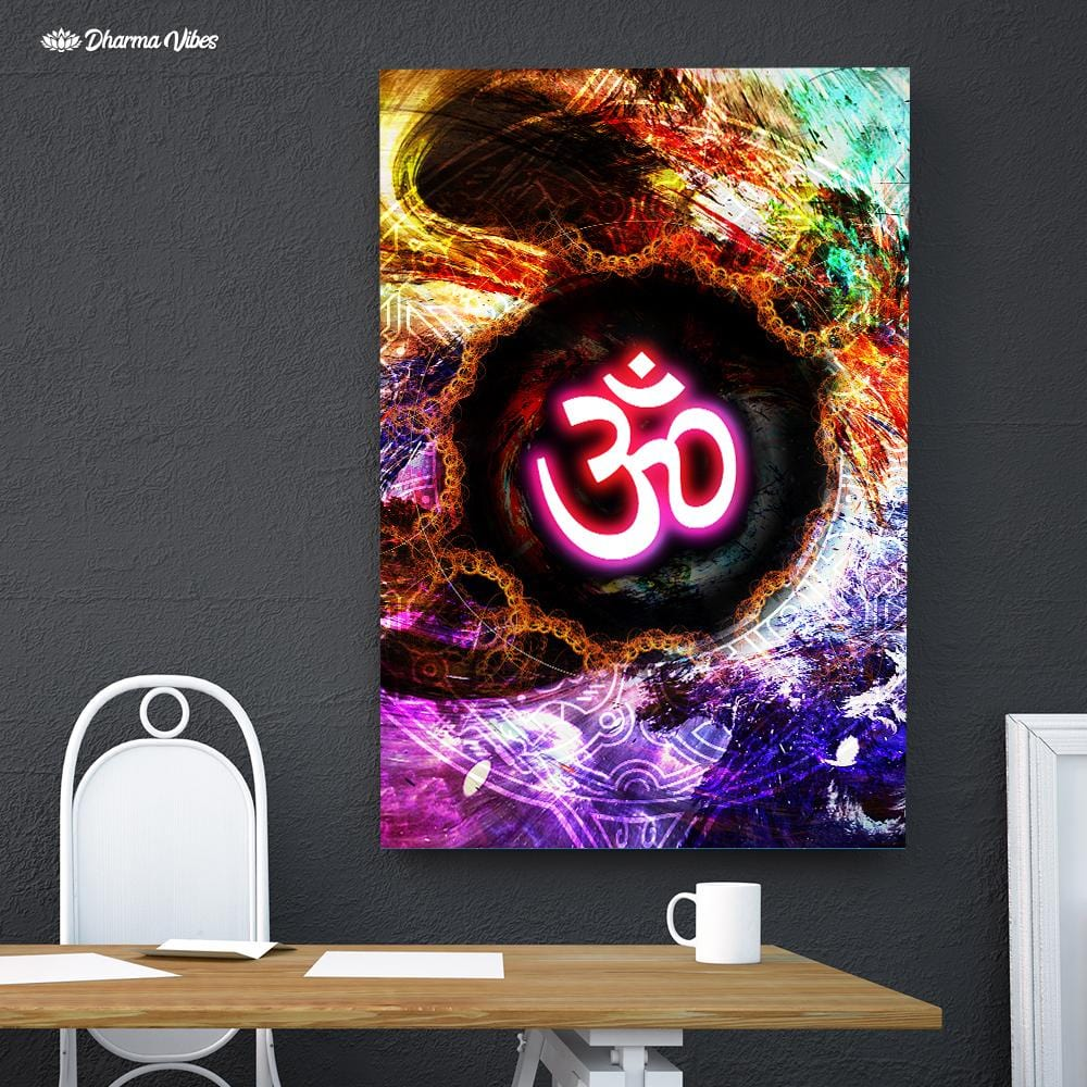 Multicolored Om by McAshe 1-Piece Canvas