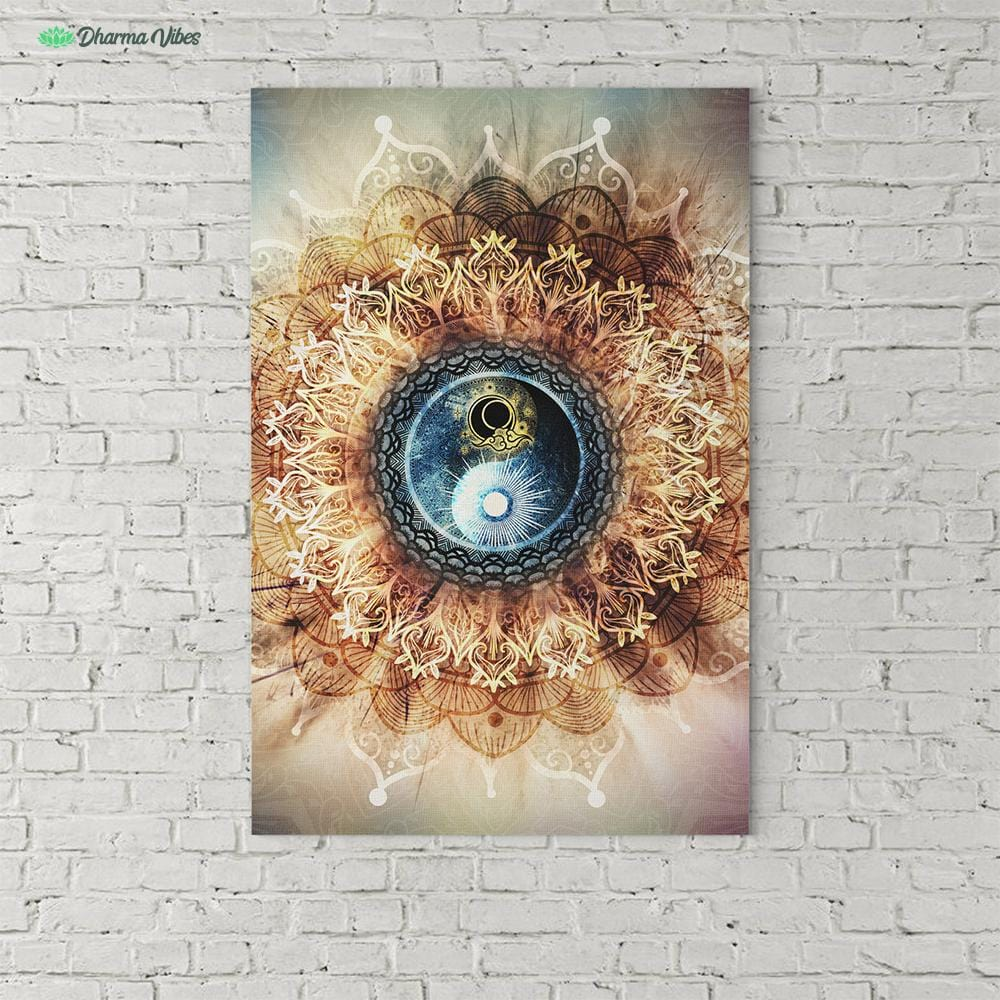 Mandala Radiant by McAshe 1-Piece Canvas