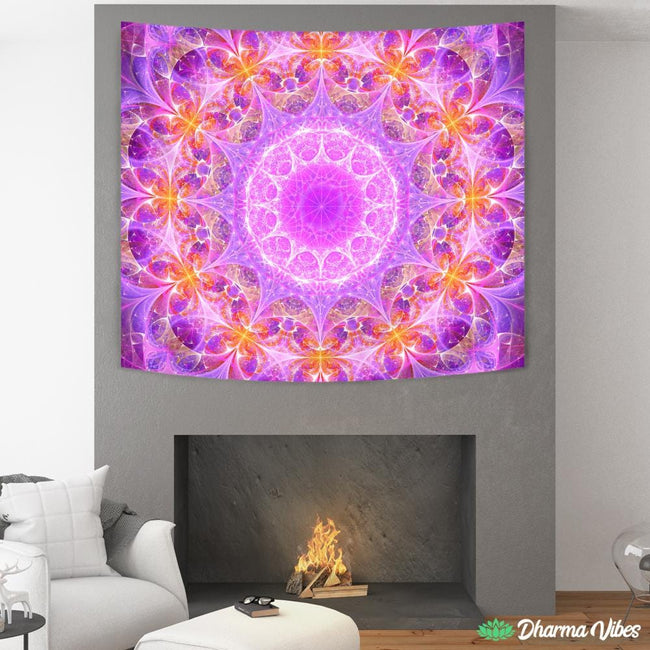 COSMIC FREQUENCE by YantrArt Design Tapestry