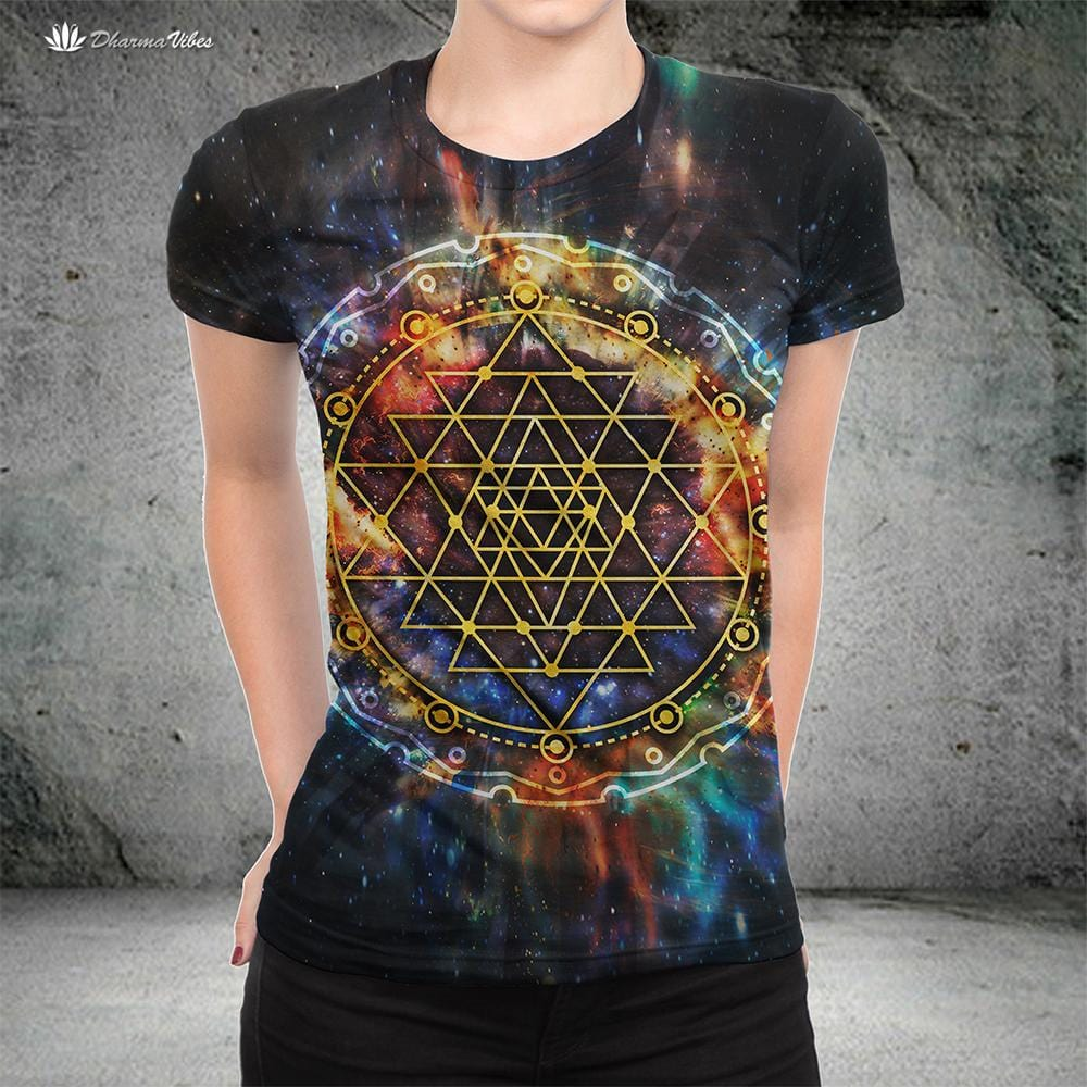Sri Yantra Galaxy by McAshe Shirt