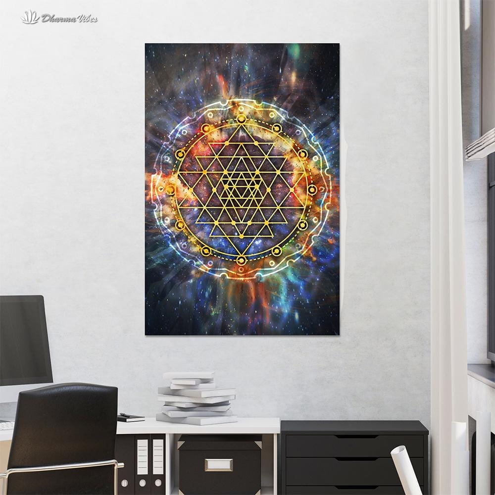 Sri-Yantra Galaxy by McAshe 1-Piece Canvas Art
