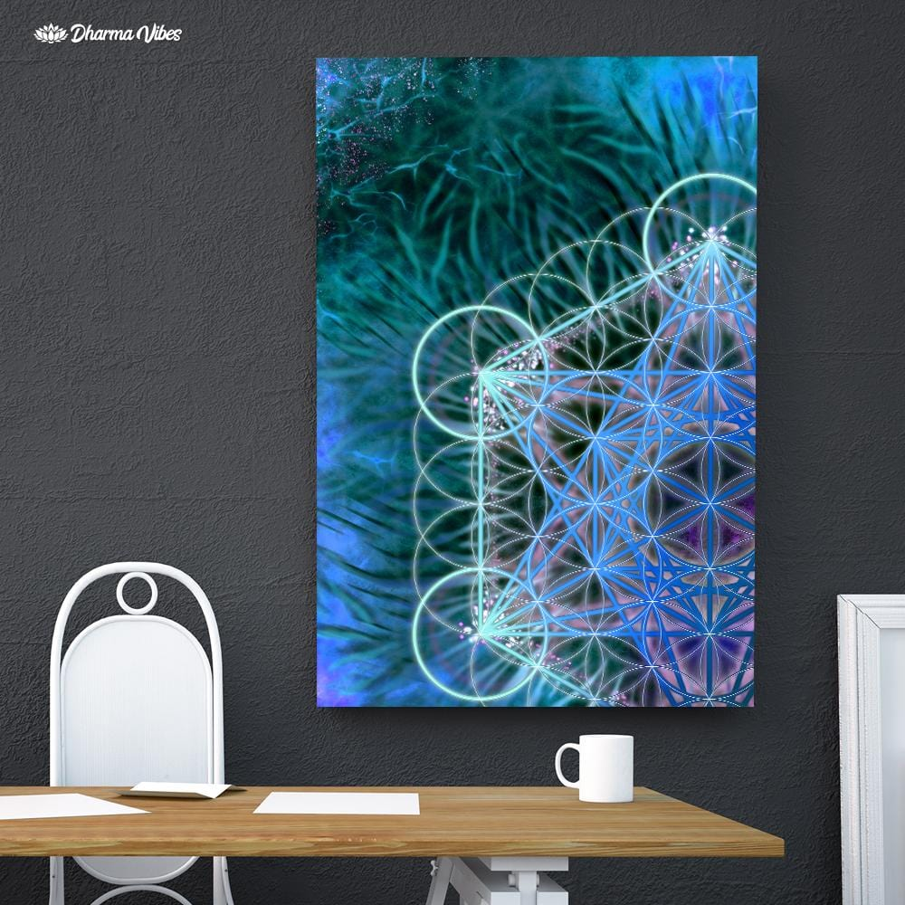 Metatron Blue by Yantrart Design 1-Piece Canvas