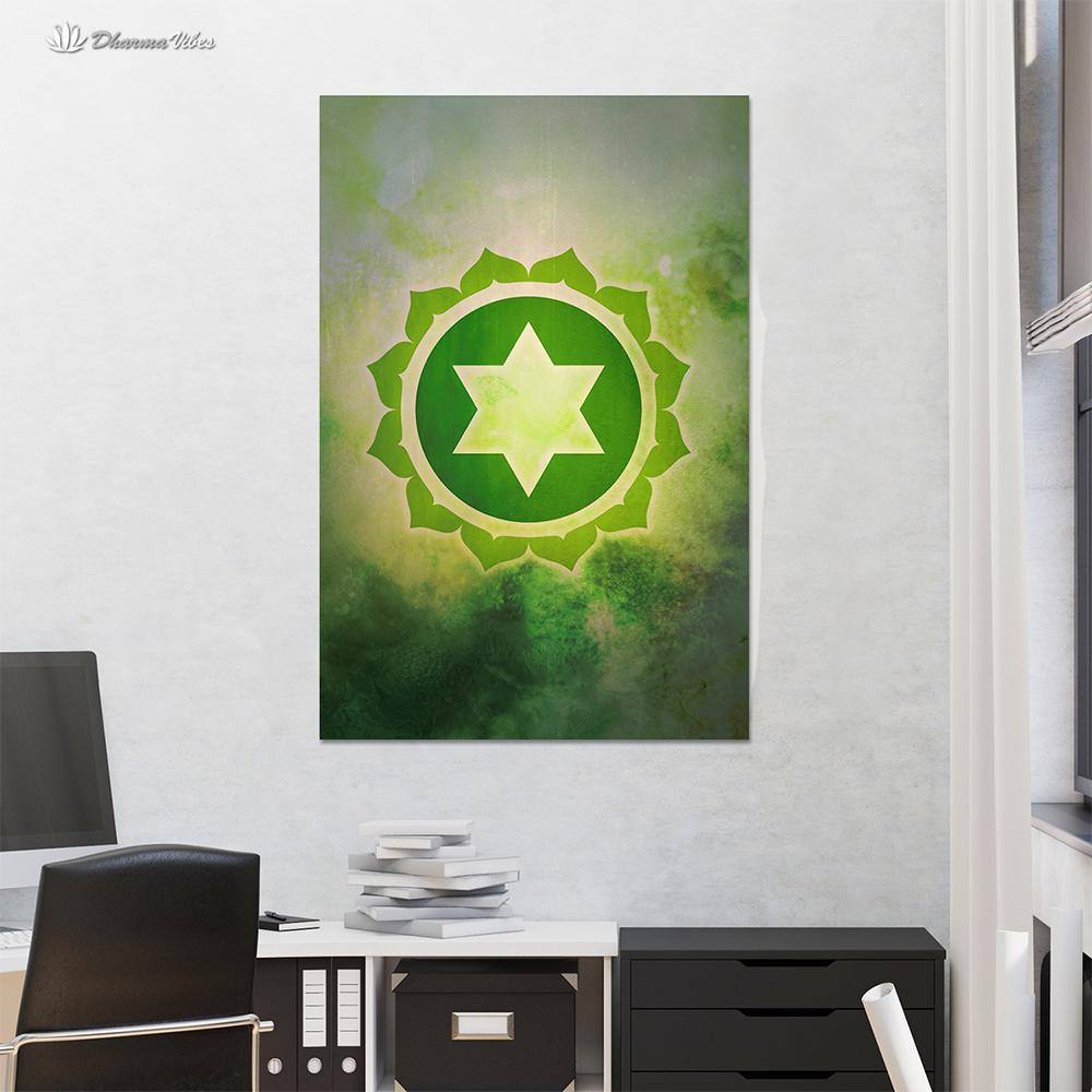 Anahata 4th Chakra  by McAshe 1-Piece Canvas Art