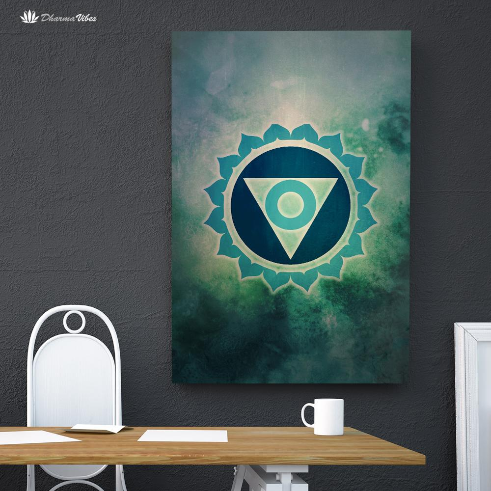Vishuddha 5th Chakra  by McAshe 1-Piece Canvas Art