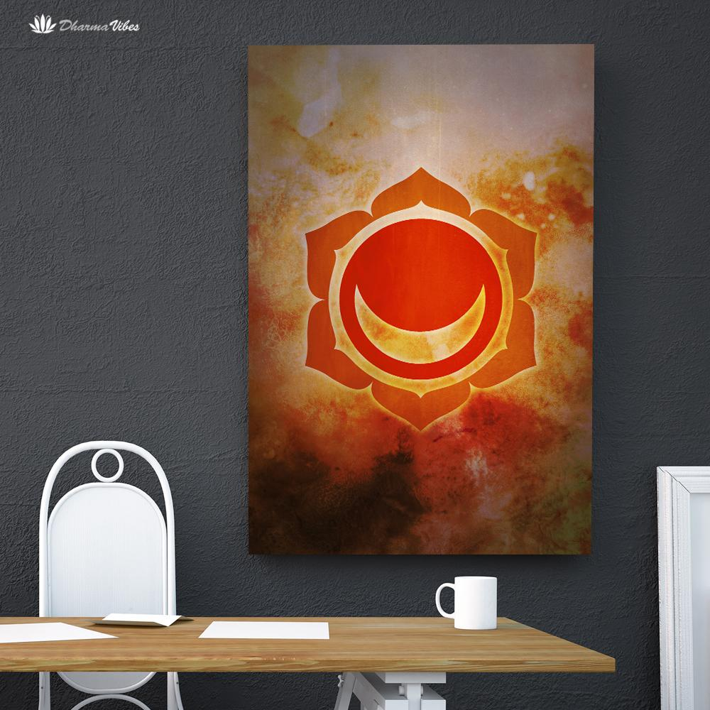 Svadhishthana 2nd Chakra  by McAshe 1-Piece Canvas Art