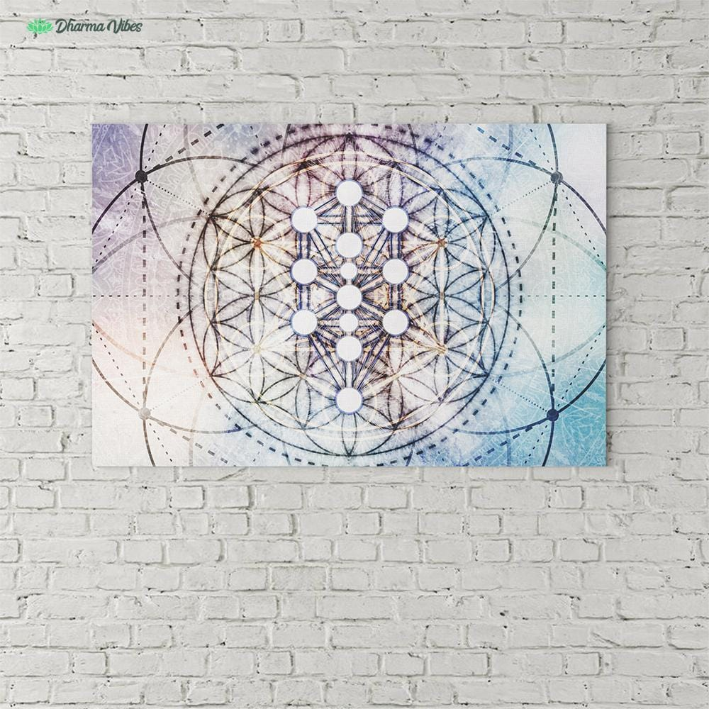 Divine Kabbalah Flower by McAshe 1-Piece Canvas