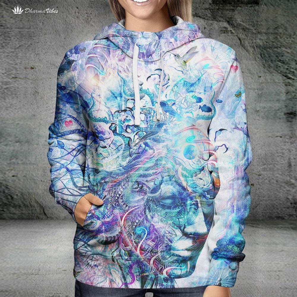 Dreams of Unity by Cameron Gray Visionary Hoodie
