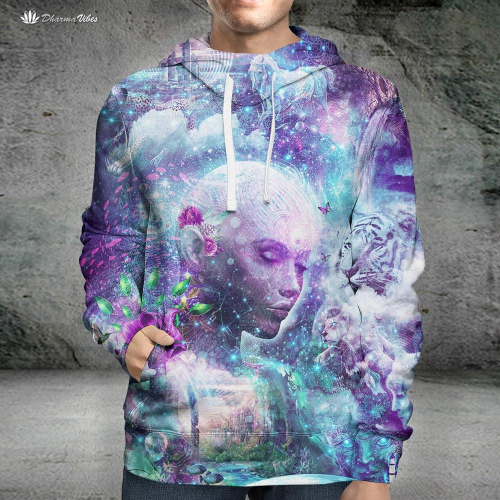Discovering The Cosmic Consciousness by Cameron Gray Visionary Hoodie