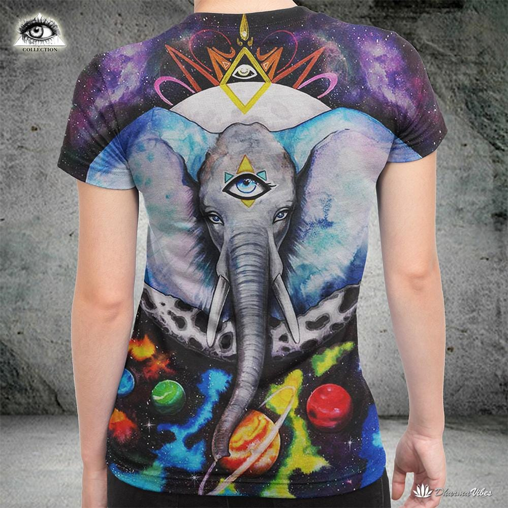 Alien Elefant By PixieColdArt Yoga Shirt