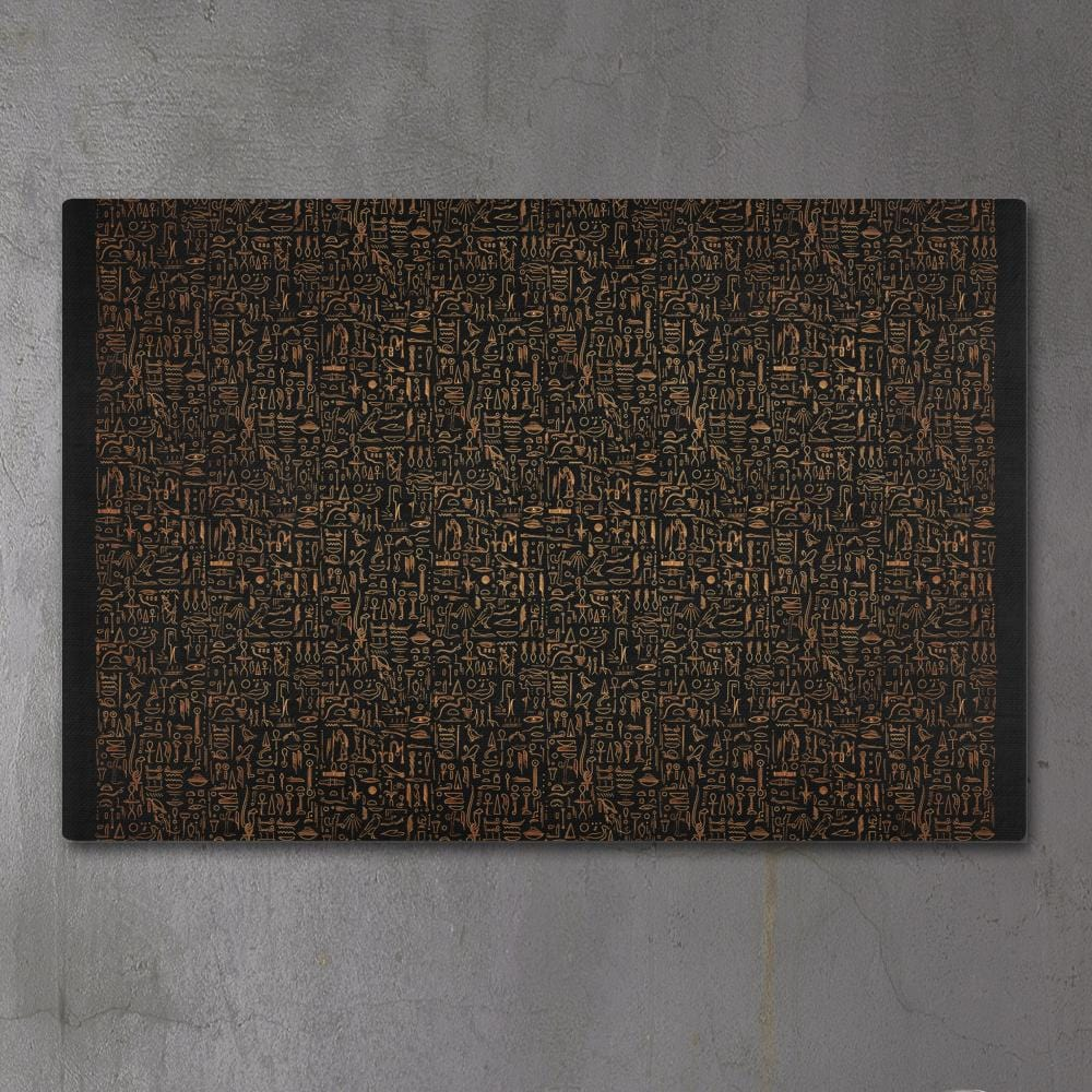 EGYPTIAN GLYPHS - GOLDEN by YantrArt 1-Piece Canvas