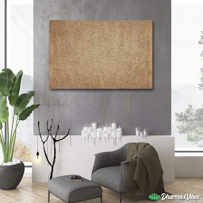 EGYPTIAN GLYPHS - PAPYRUS by YantrArt 1-Piece Canvas