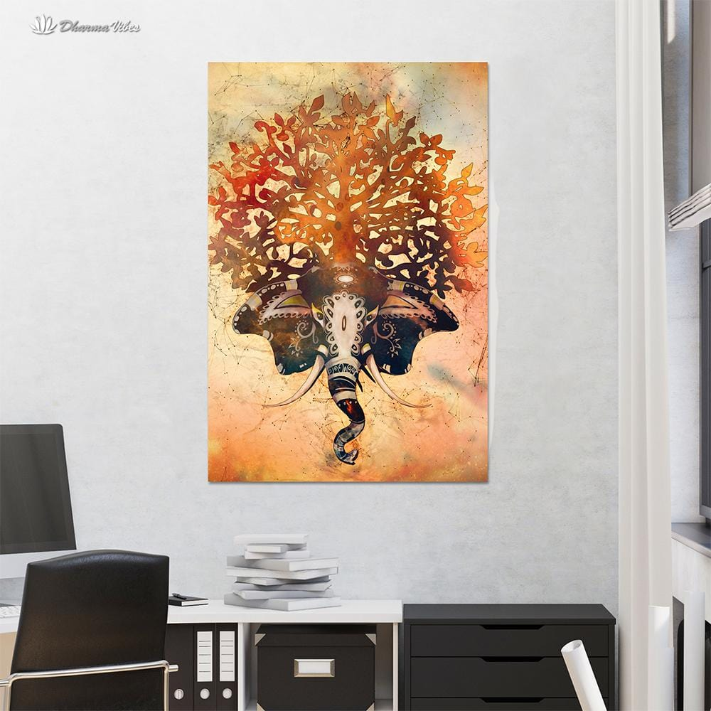 Elephant of Life by McAshe 1-Piece Canvas
