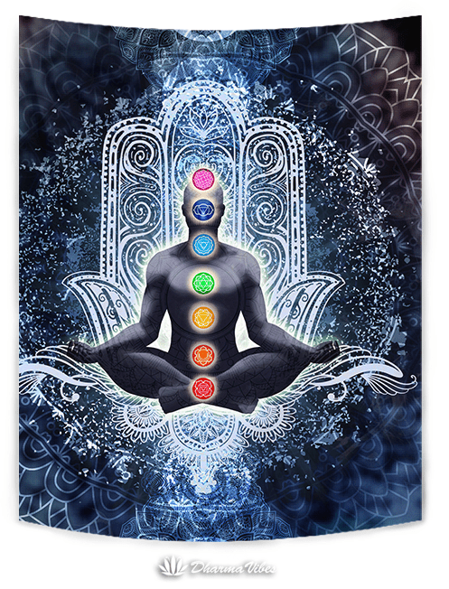 Enlightened Chakra by McAshe Tapestry